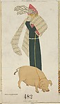 New Year's Card, Mela Koehler (Austrian, Vienna 1885–1960 Stockholm), Color lithograph