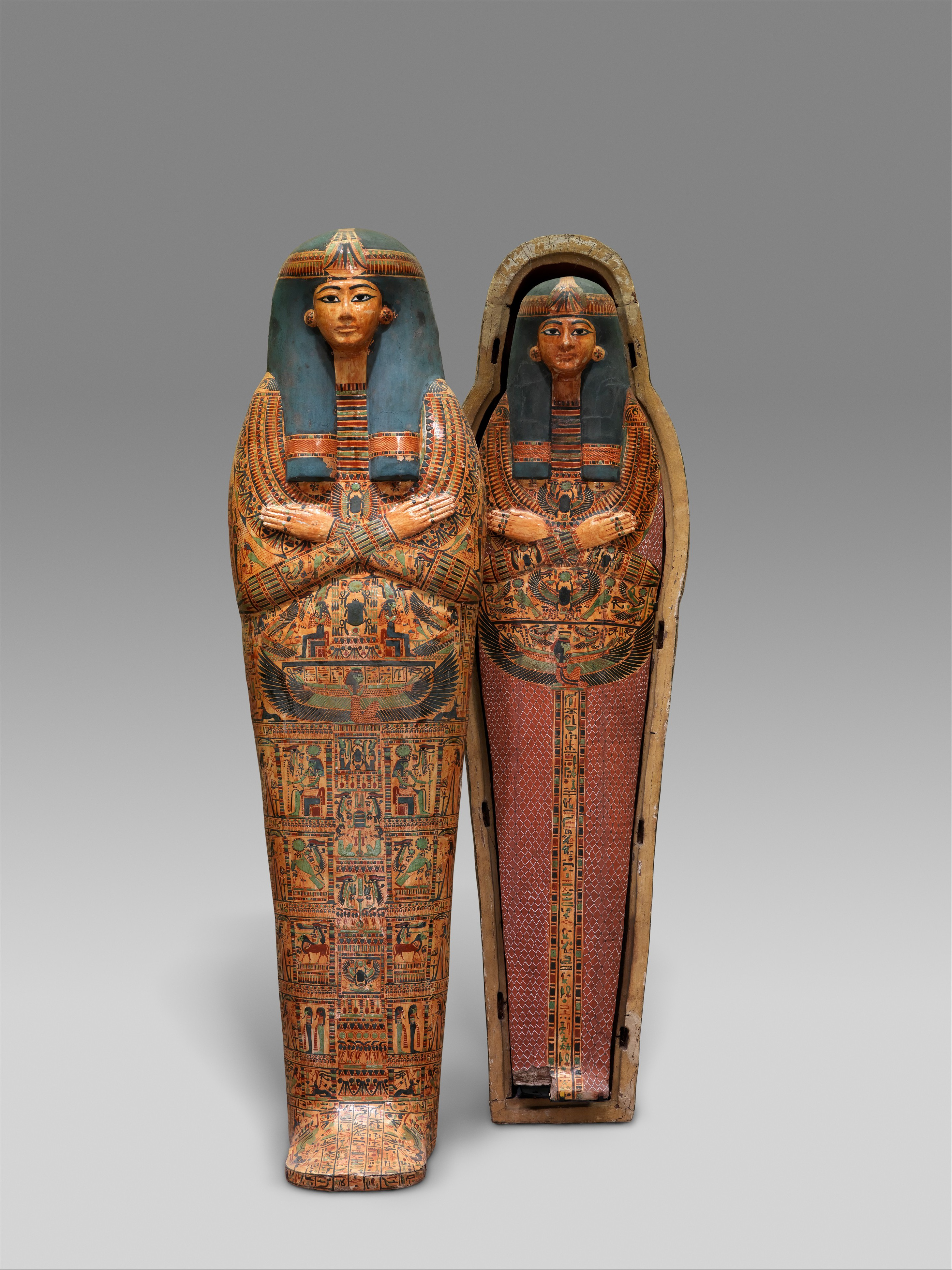 Amun Re Photographic Arts: Mummy Board Of The Singer Of Amun-Re, Henettawy