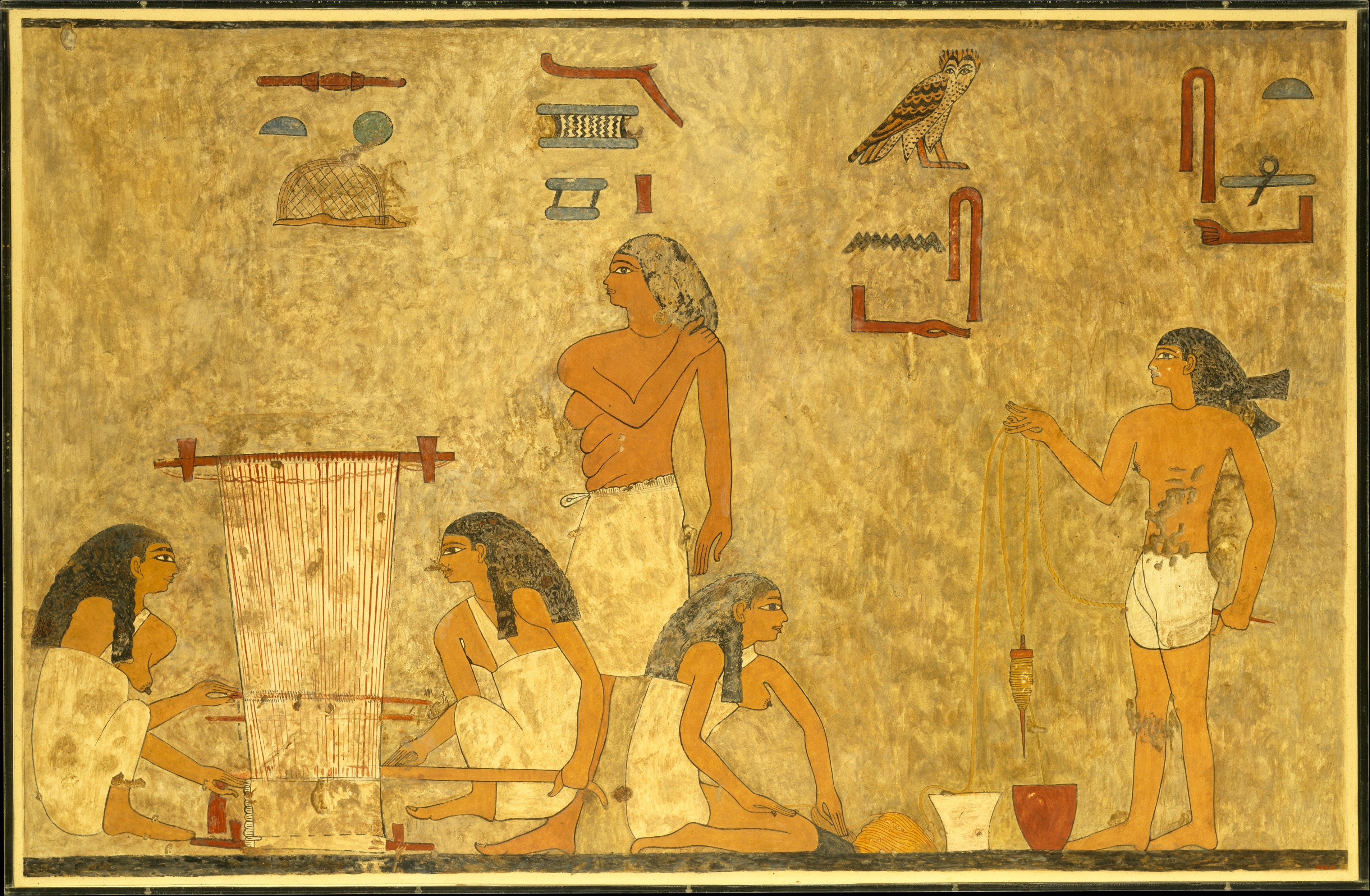 Norman de Garis Davies | Weavers, Tomb of Khnumhotep | Middle ...