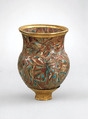 Drinking Cup, Glassy faience, gold