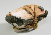 Food Case Probably Containing a Preserved Pigeon, Wood, plaster, animal remains, bitumen, linen