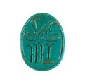 "Scarab ""Two Ladies, Wadjetrenput"", Egyptian blue"