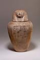 Canopic Jar of Ruiu, Pottery, Marl B, paint