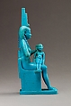 Statuette of Isis and Horus, Faience