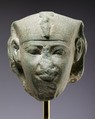 Head of a sphinx, possibly of Amenemhat I, Dolomitic marble