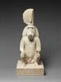 Statue of a seated baboon, Limestone, paint