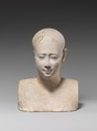 Bust of a priestly figure, Limestone