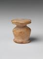 Kohl jar, Travertine (Egyptian alabaster)