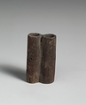 Kohl Tube, double, Wood, bronze or copper alloy