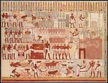Nebamun Supervising Estate Activities, Tomb of Nebamun, Charles K. Wilkinson ca. 1928–1930, Tempera on paper
