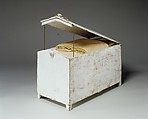 Gable-topped Linen Chest, Wood, gesso