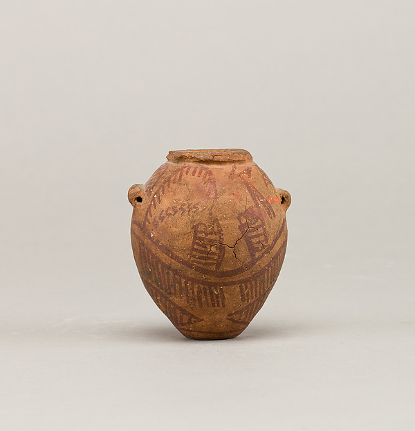 Decorated ware jar with two boats, Pottery, paint