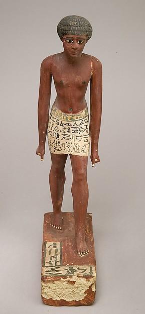 Statuette of Merer, Wood, paint Gesso