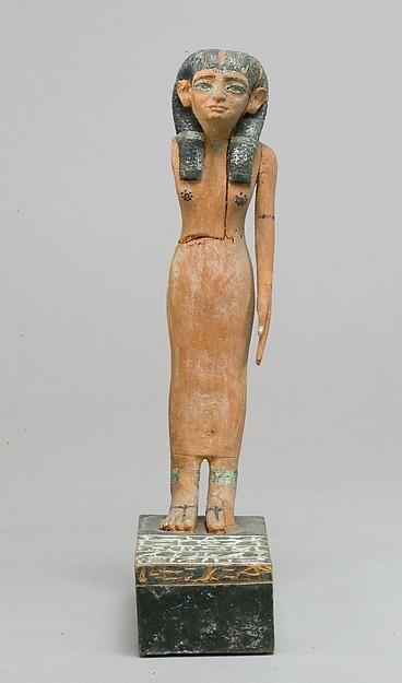 Statuette of Lady Dedetamun, Wood, metal, paint