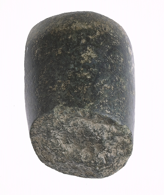 Pestle made from inscribed object, Diorite