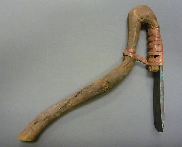 egyptian adze. adze, wood, bronze or copper alloy, leather egyptian adze n