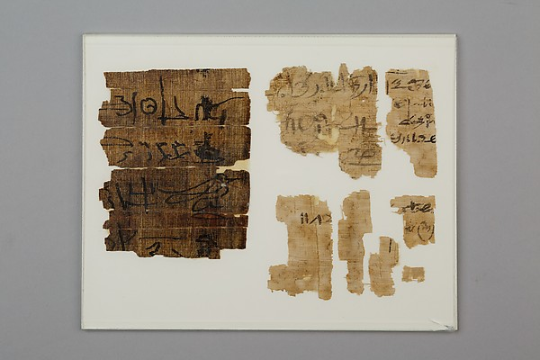 Fragments of Papyrus, Papyrus, ink