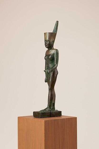 Statuette, Neith, Bronze or copper alloy