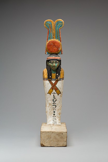 Funerary figure, Wood, gesso, paint