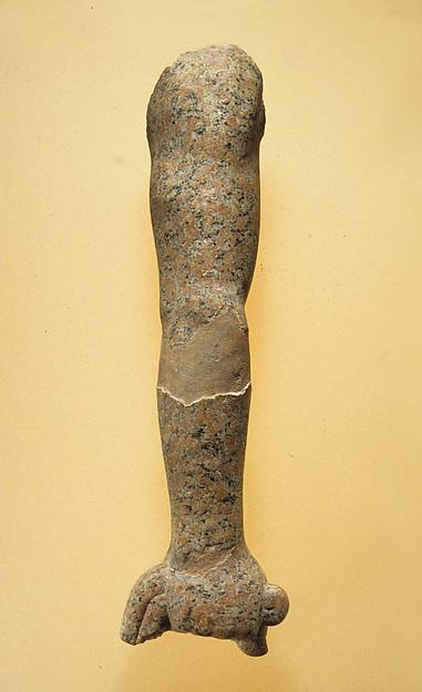 Arm of life-size statue, Granite