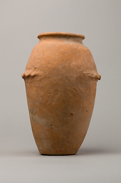 Wavy-handled jar, Pottery