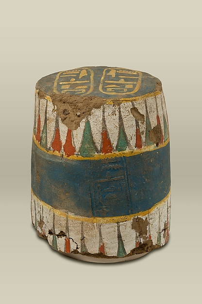 Sealing from a Jar with the Name of a king Amenhotep, Mud, pottery, paint