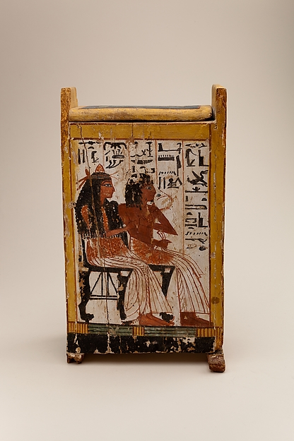 Shabti box of Nakhtamun, Wood, paint