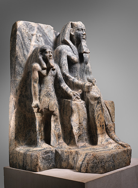 King Sahure and a Nome God, Gneiss