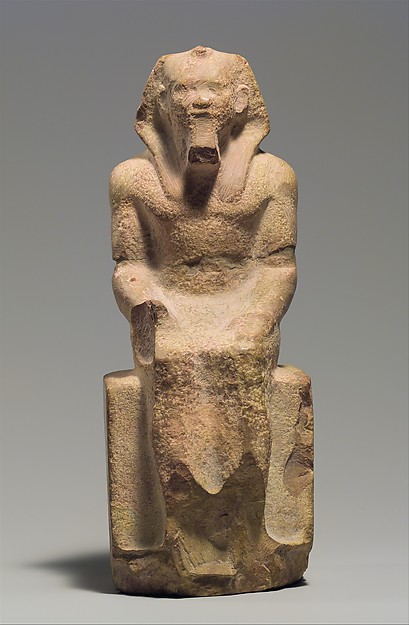 Seated Statue of King Menkaure, Indurated limestone