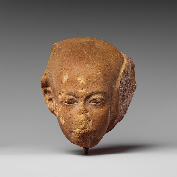 Head of a princess from a group statue, Quartzite