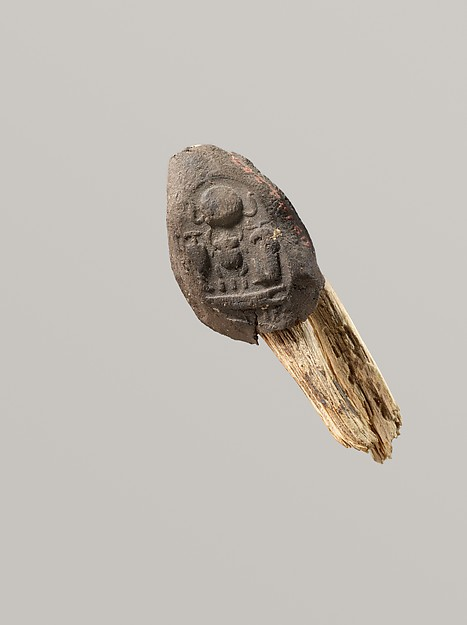 Seal Impression Attatched to a Fiber Tie from Tutankhamun's Embalming Cache, Mud, fiber