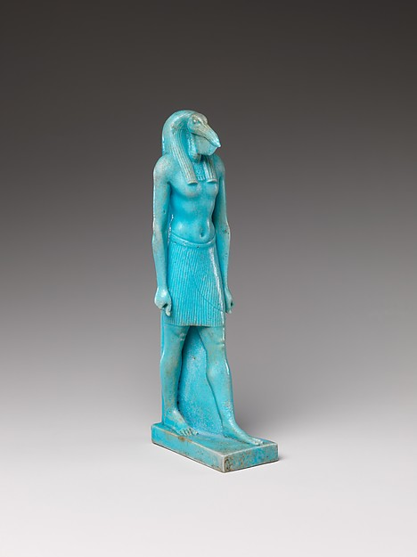 Striding Thoth, Faience