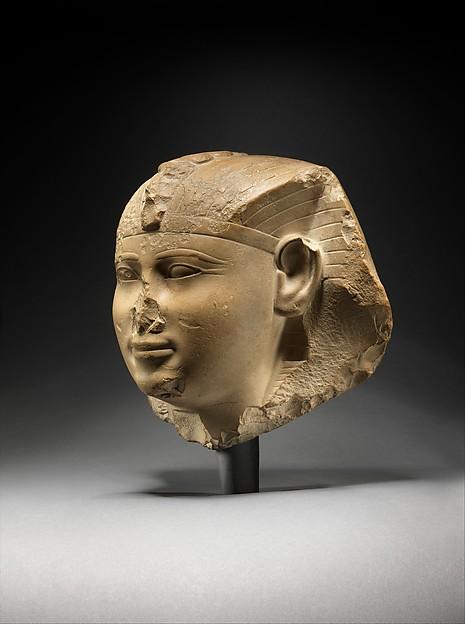 Head of a King, Possibly Seankhkare Mentuhotep III, Limestone