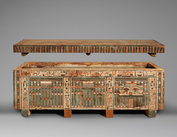 Coffin of Khnumhotep, Painted wood (Ficus sycomorus)