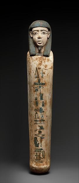 Shabti of Senebimi, Wood, paint