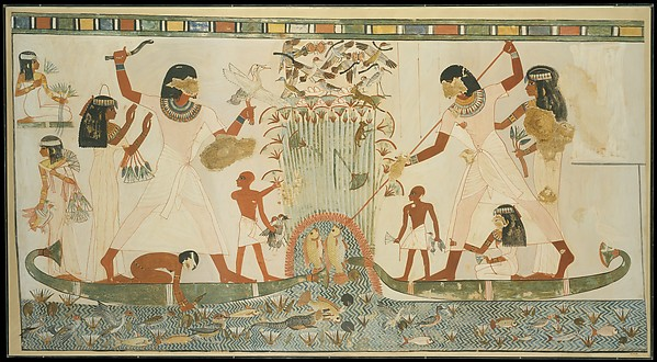 Menna and Family Hunting in the Marshes, Tomb of Menna