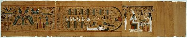 Netherworld Papyrus of Gautsoshen, Papyrus, ink