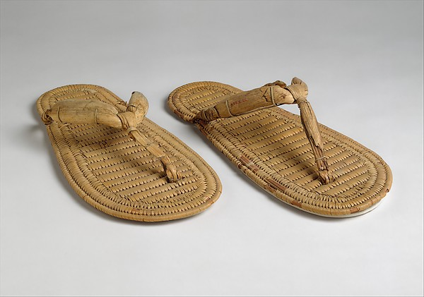 Pair of Sandals, Papyrus Reed
