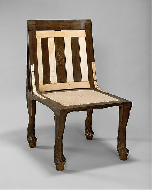 Chair of Reniseneb, Wood, ebony, ivory