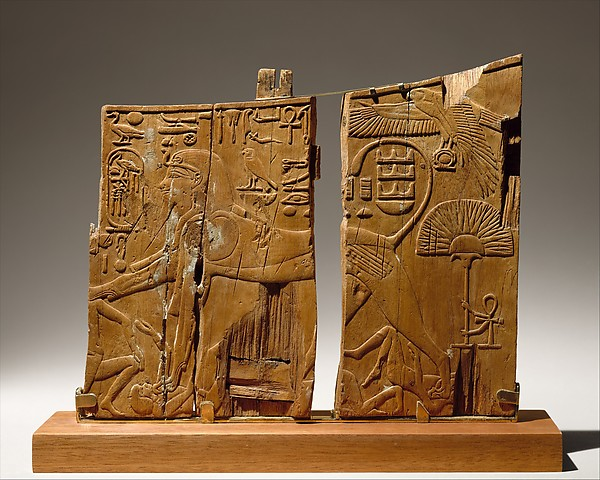 Arm Panel From a Ceremonial Chair of Thutmose IV, Wood (ficus sycomorus?)