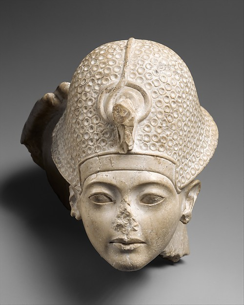 Head of Tutankhamun, Indurated Limestone