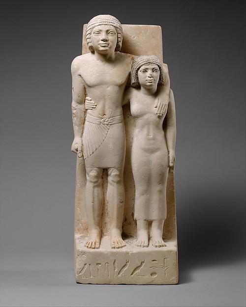 The Royal Acquaintances Memi and Sabu, Limestone, paint