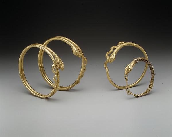Snake bracelet, Gold