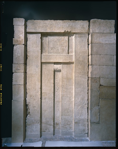 Tomb Chapel Of Raemkai: False Door On West Wall, Limestone, Paint