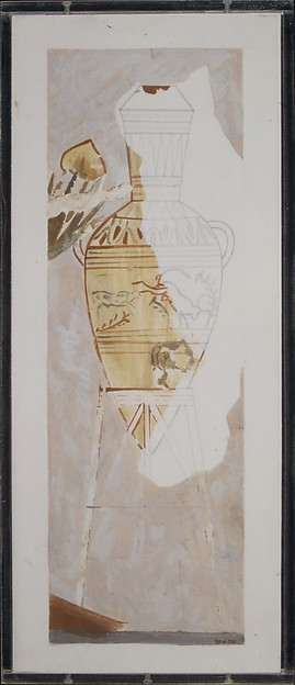Jar and Stand, Tomb of Nakht, Charles K. Wilkinson, Tempera on paper