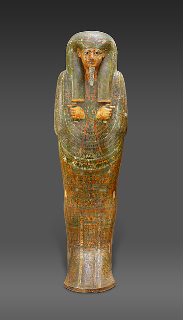 Outer coffin of Amenemopet, Wood, paint, gesso