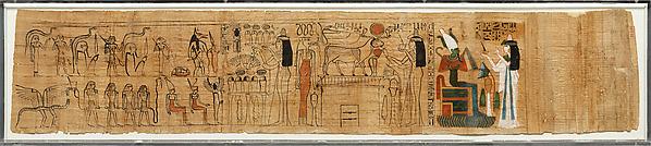 Funerary Papyrus (Amduat) Belonging to the Singer Tiye, Papyrus, ink