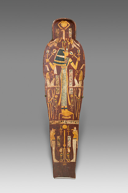 Mummy Board of Henettawy (C), Probable Sister-Wife of High Priest of Amun Smendes, Wood, gesso, paint