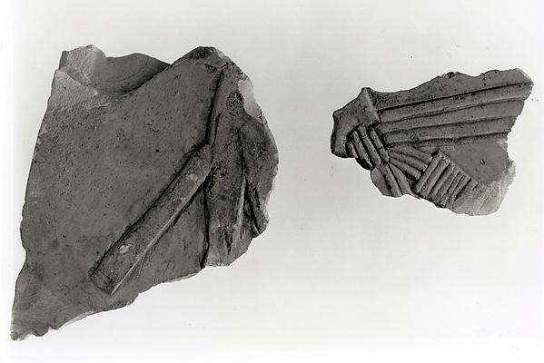 Raised relief fragment, Limestone