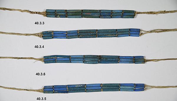 Bracelet of Wah, Faience, linen thread Cord or Thread